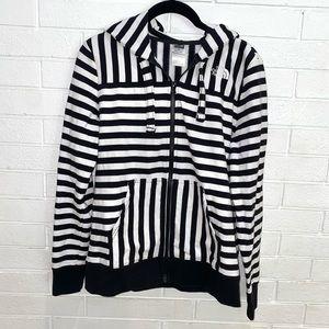 The North Face full zip striped hoodie medium